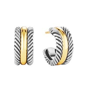 DAVID YURMAN • Hoop Earrings with 14K Gold